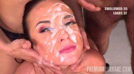 Premium Bukkake – Vinna Reed swallows 68 huge mouthful cum loads